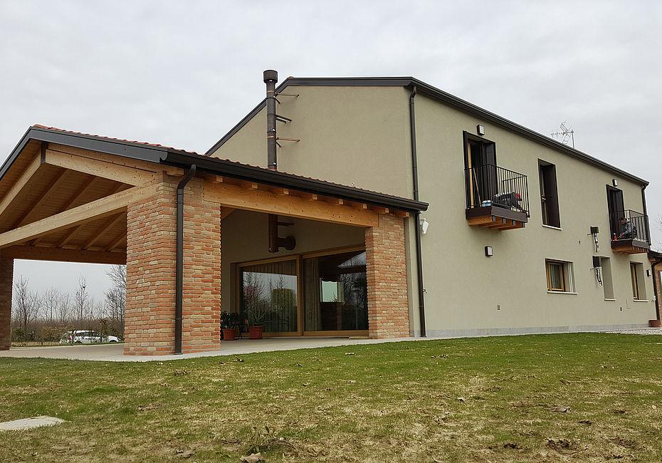 Lignius casa natura srl case in legno casa unifamiliare for Casa clasica srl
