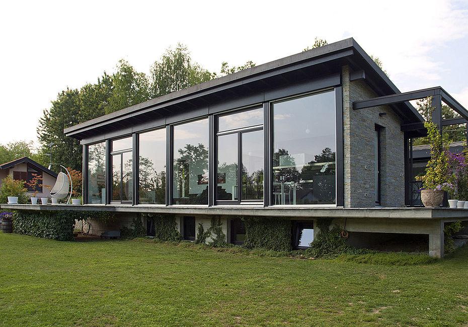 Lignius haus idea case in legno casa a veruno for Costruttori di case del midwest