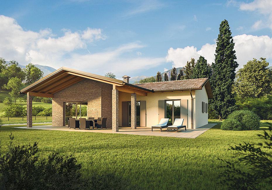 Wolf haus case in legno aura lignius for Casa classica toscana srl