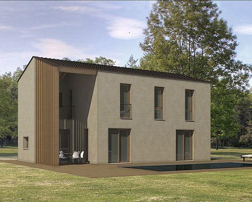 Lignius casa natura srl case in legno modello cedro for Piani di case in cedro