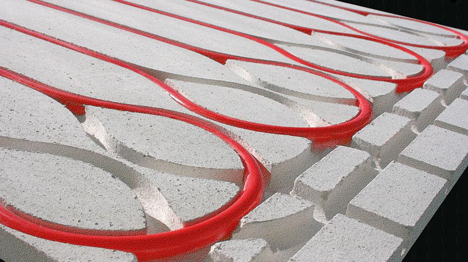 Sistema radiante a pavimento a secco hormann lignius