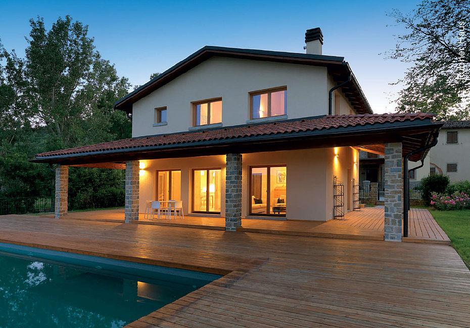 Lignius rubner haus case in legno casa for Costruttori di case del midwest
