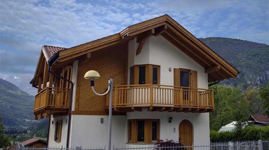 Casa di montagna stile classico ille case in legno lignius for Casa stile classico