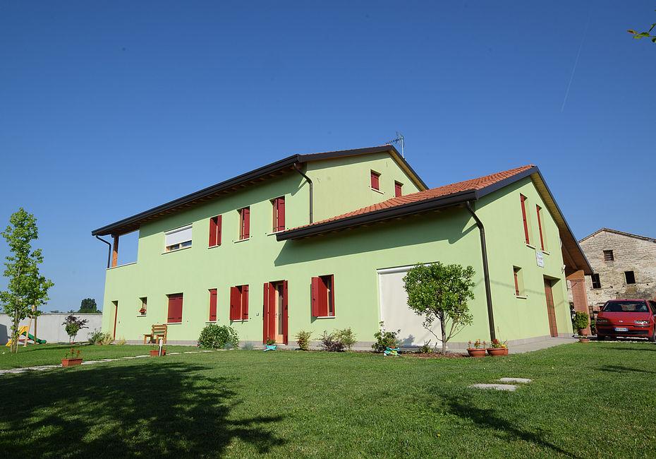 Lignius casa natura srl case in legno casa bifamiliare for Casa clasica srl