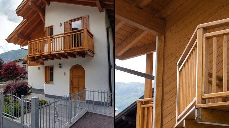 Casa di montagna stile classico ille case in legno lignius for Case arredate stile classico